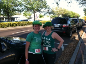 Paige and I before the race I Did Not Finish