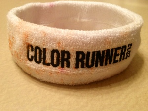 My official Color Run headband after the race